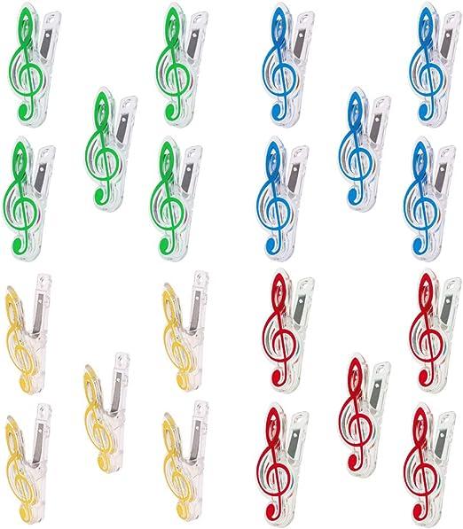 FLAMEER 4 Kits Carpeta De Clips De Música Nota Musical Piano De ...
