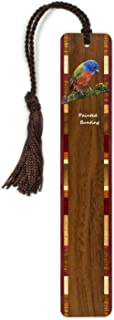 product image for Painted Bunting - Cardinal - (Double Sided) Colorful Wooden Bookmark with Tassel