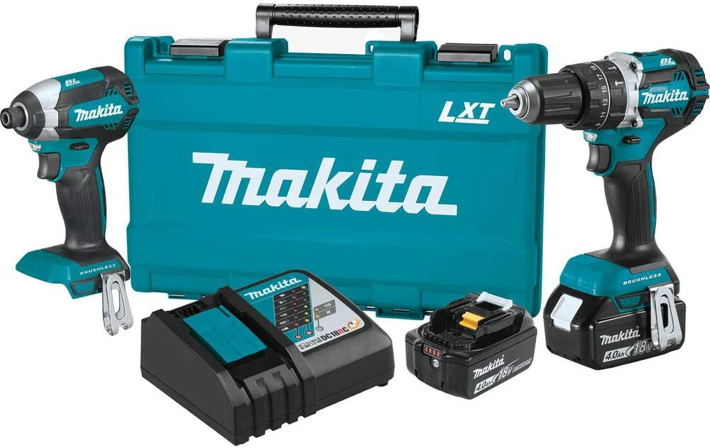 Makita XT269M-R 18V LXT Lithium-Ion Brushless 2-Piece Combo Kit 4.0 Ah Renewed