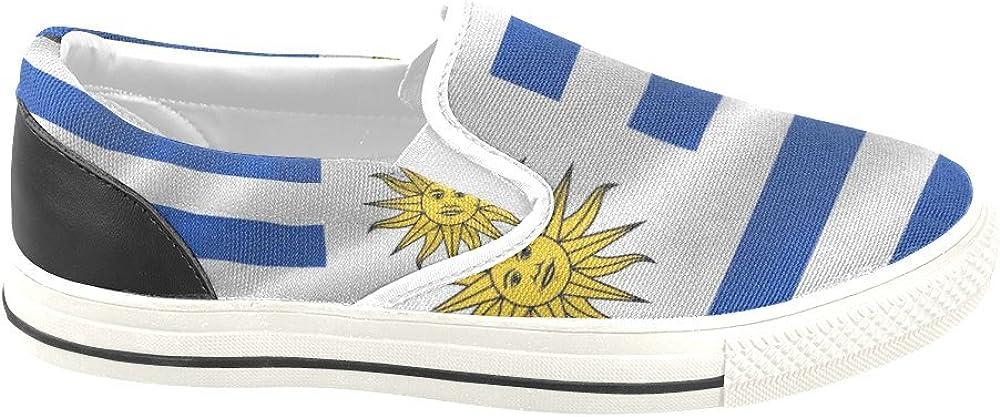 D-Story Custom Flag of Uruguay Mens Slip-on Canvas Shoes Sneaker