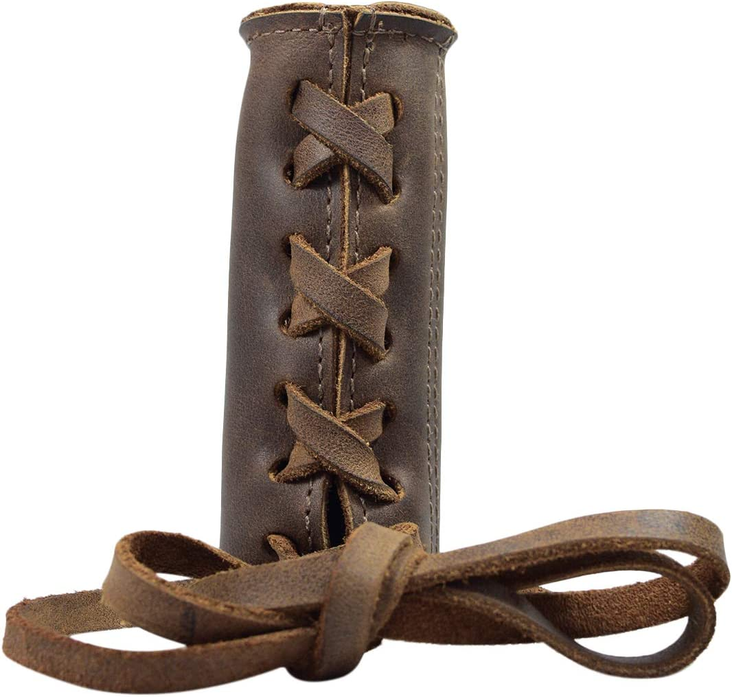 Hand Stitched Leather Lock-on Handlebar Grips MTB