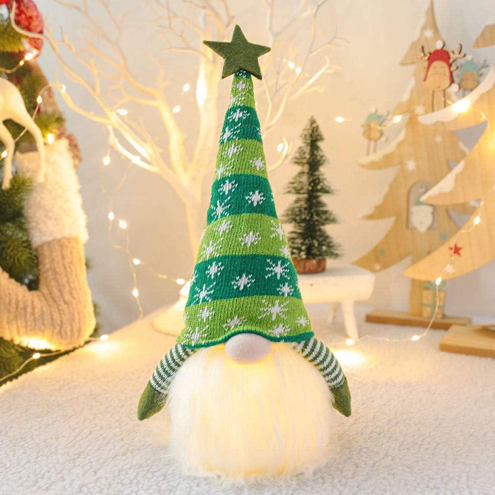 Bucharm Christmas Decorations Indoor Glowing Handmade Plush Gnomes Christmas Gnome for The Home Decor Christmas Ornaments