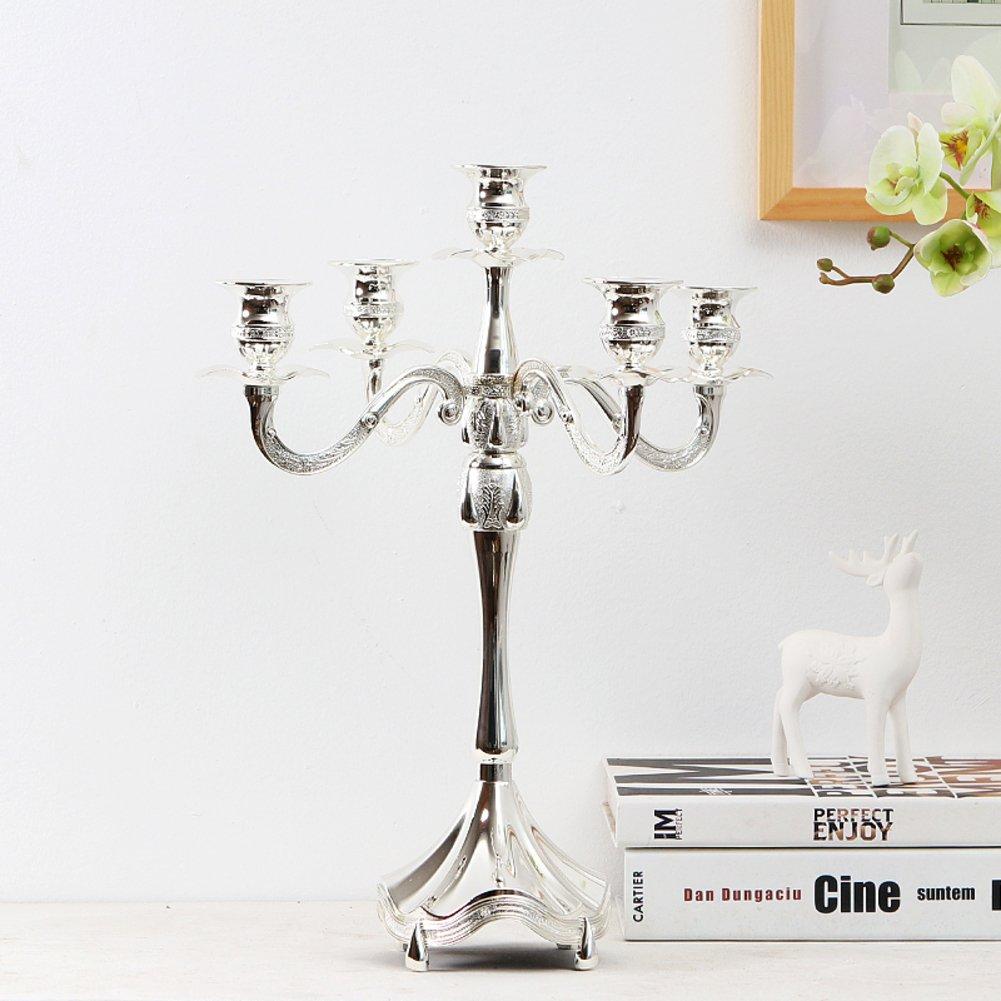 Europäische klassische Leuchter kreative fünf Kerzen Home HotelktvCandlelight Leuchter Ornamente-G