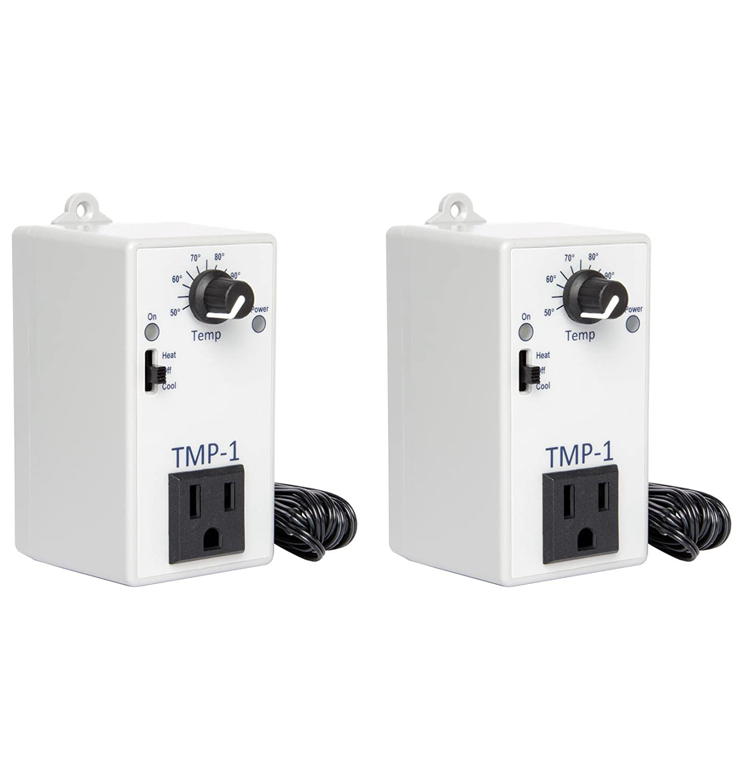 (2) C.A.P. TMP-1 Cooling Hydroponic Garden Thermostat Temperature Controllers