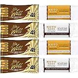Fett Bombs Keto Bars - Chocolate Peanut Butter + Dark Chocolate Coconut (Sampler Set, 8 Bars)