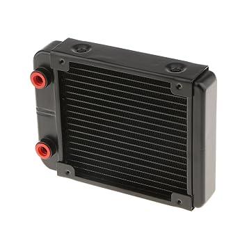 Homyl 18 Tuberías de Radiador de Enfriamiento de Agua Intercambiador de Calor de Aluminio G1/