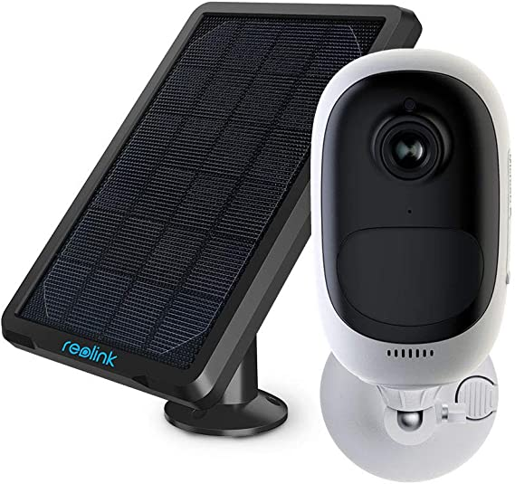 REOLINK Outdoor Security Camera Rechargeable Battery 1080P Wireless Surveillance Support Cloud Google Assistant Night Vision PIR Motion Detection SD Slot   Argus Pro+Solar Panel