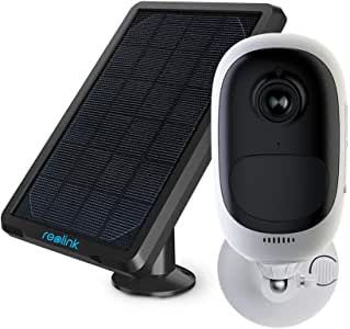 REOLINK Outdoor Security Camera Wireless with Rechargeable Battery Solar Panel Powered, 1080P Night Vision PIR Motion Detection, Support Cloud/ SD Card Slot/ Google Assistant | Argus Pro with Solar Panel