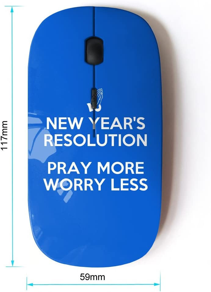 Optical 2.4G Wireless Computer Mouse KOOLmouse BIBLE VERSE PRAY MORE, WORRY LESS