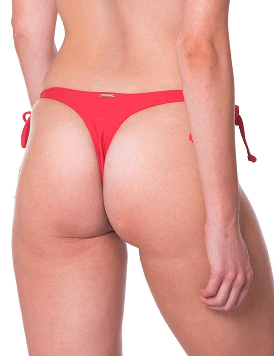 RELLECIGA Women's Tie Side Thong Bikini Bottom