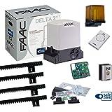 FAAC 740 - Kit Delta para puertas correderas, carga máxima de 500 kg, 230 V y 4 m de cremallera: Amazon.es: Bricolaje y herramientas