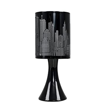 Minisun Horizon New York Lampe De Table Chevet Touch Moderne