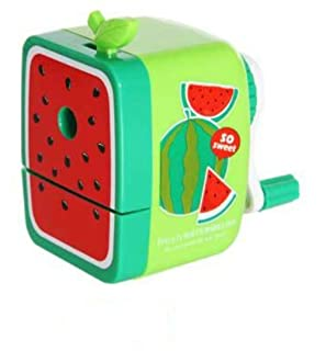 Temperamatite per bambini Matita Affilatrice Manovella Manuale Desktop School Stationery per Child Student Study Watermelon Pattern