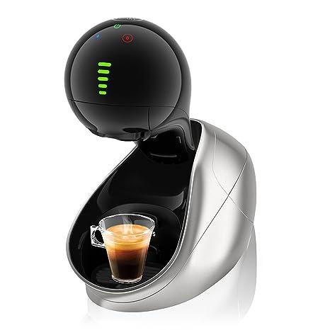 Krups Dolce Gusto Movenza KP600E - Cafetera de cápsulas, 15 bares de presión, color plata