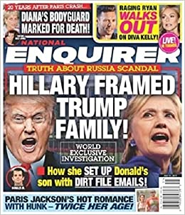 Image result for national enquirer hillary scandal