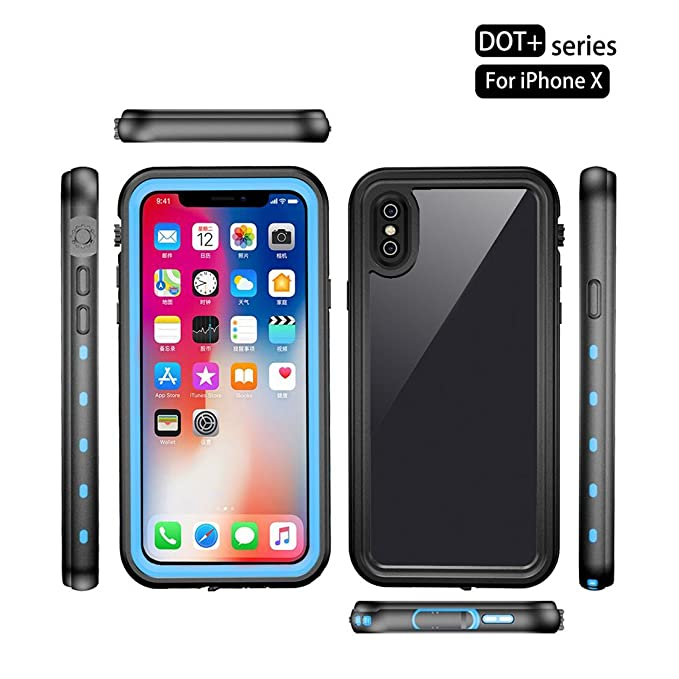 Amazon.com: Red Pepper for iPhone XS Waterproof Case for iPhone X Full Sealed Shockproof Cover Pouch Shell with IP68 Certified Clear 5.8 inch (Blue): Cell ...