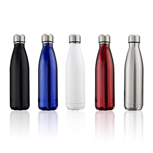 OUTERDO Water Bottle Double Wall Insulated Vacuum Stainless Steel Drinking Bottles for Sport Hiking Running Travelling 500ml