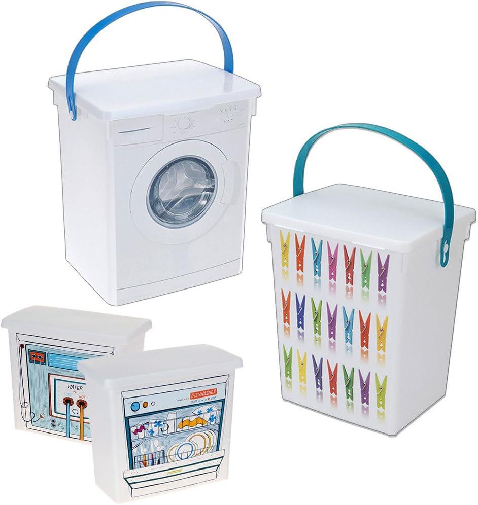 Ropa para pinzas de la ropa de almacenamiento contenedor pastillas de lavavajillas lavadora jabón: Amazon.es: Hogar