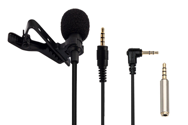 AGPTek Z Mini Micrófono de Solapa mm Omnidirectional Condensador con adaptadores para