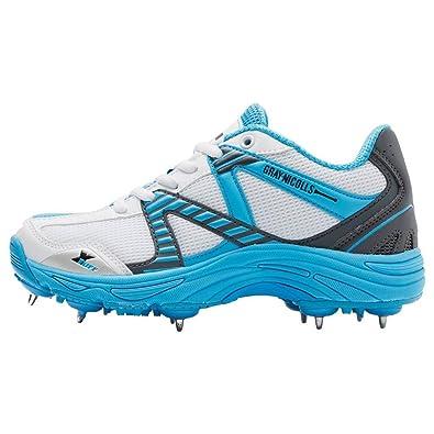 e720243e9f3 Gray-Nicolls Velocity Blue Spike Junior Cricket Shoes  Amazon.co.uk ...