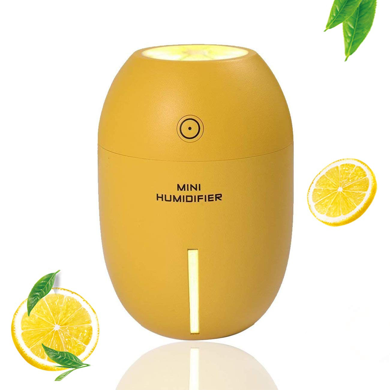 DC-BEAUTIFUL Portable Mini USB Cosmetology Humidifier 180ml Lemon Shape,Office Cool Mist Humidifier Car Air Humidifier Bedroom Purifier for House Desktop Spa Baby Kids