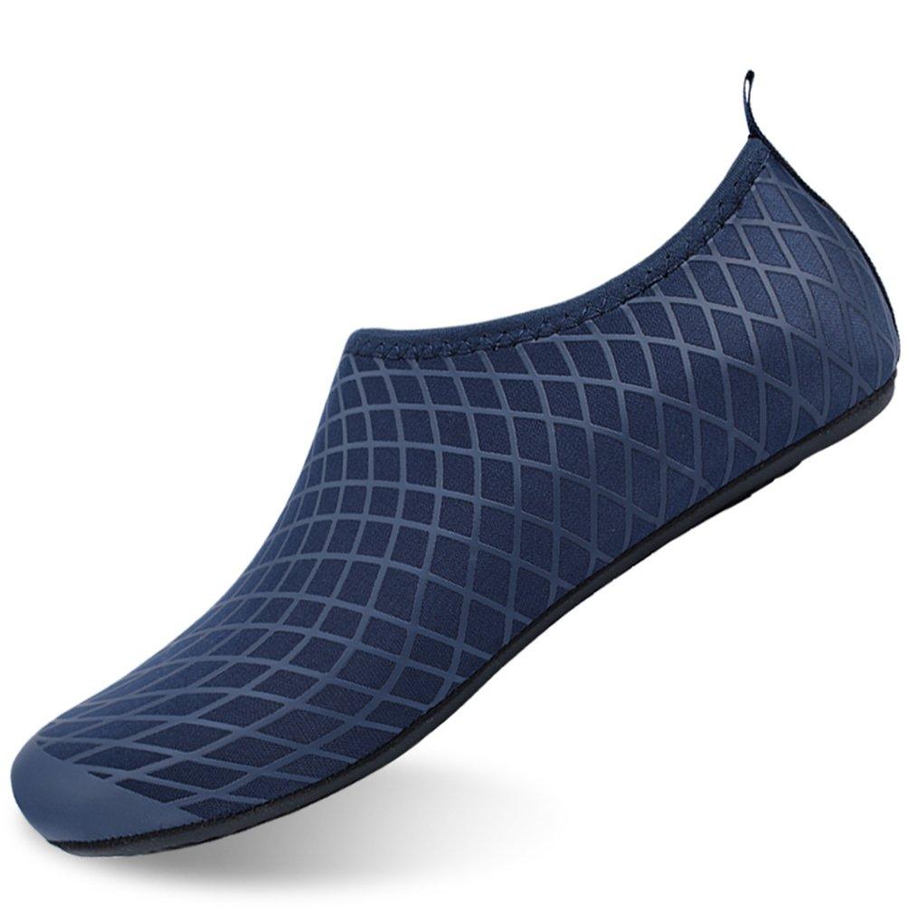 LINGMAO Boys Water Shoes Barefoot Swimming Skin Shoes Aqua Socks Girls Kids for Beach Pool 11-11.5M Blue