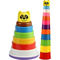 SARTHAM, Stacking Toys for Kids - Combo of 2 Toys for Toddlers