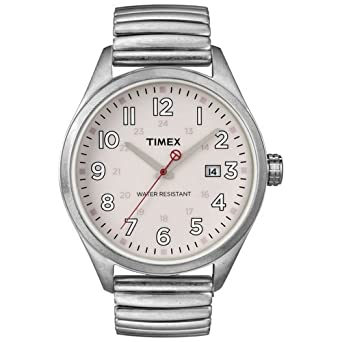 Timex T2N311 Originals Retro Pink Dial Expansion Stainless Steel Unisex Watch