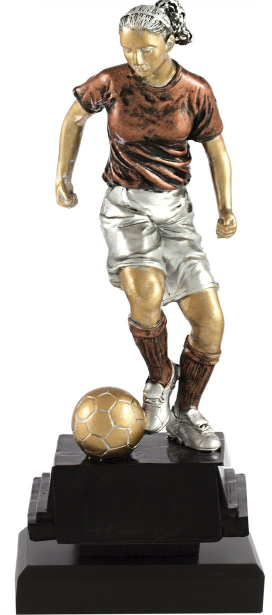 Art-Trophies TP401 Trofeo Figura Fútbol Femenino, Cobre, Talla Única 7401-3