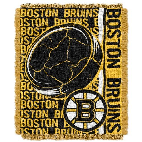 Boston Blanket Bruins (The Northwest Company NHL Boston Bruins Double Play Jacquard Throw, 48
