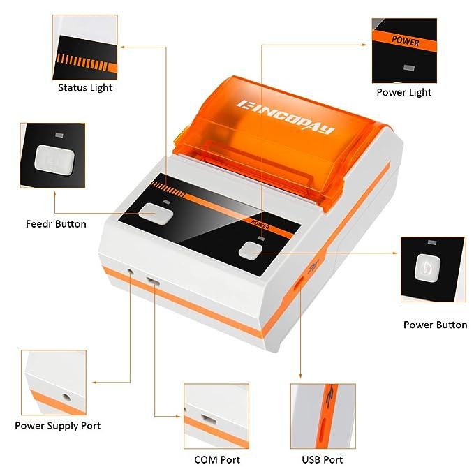 Amazon.com: E-INCOPAY Impresora térmica, portátil ...