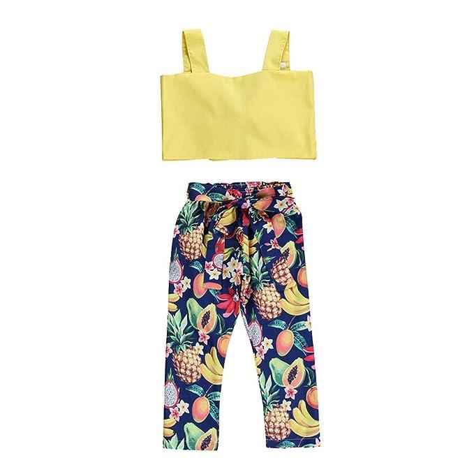 Amazon.com: HANANEI 2 piezas de ropa para bebés y niñas con ...