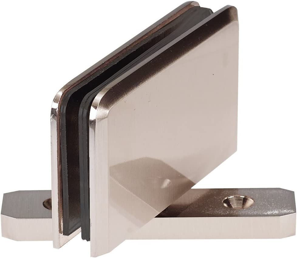 Coastal Shower Doors C 3830n Paragon Top Or Bottom Pivot Hinge For Frameless Heavy Glass Shower Doors Nickel Amazon Com