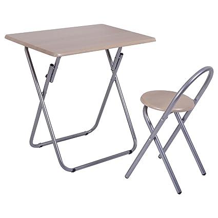 Amazoncom Kchexfolding Study Writing Desk Table Chair Set Kids