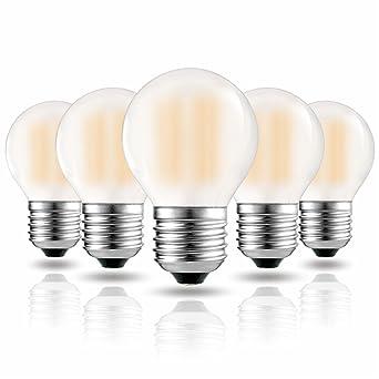 Hizashi 6W 650LM Dimmbare LED Birne E27, 2700K Warmweiß, G45 LED Lampen,  Hohe