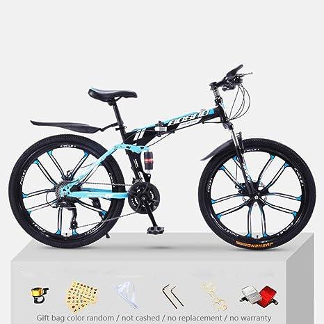 KNFBOK bicis de montaña mujer Bicicleta de montaña para adultos, 21 velocidades, marco de acero grueso,