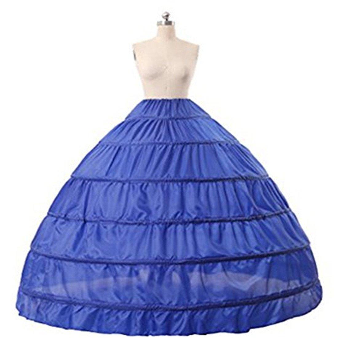 Gurnall Women's Wedding Ruffles Gown Bridal Crinoline Petticoat Hoop Skirt Underskirt 4 Hoops) CQ-4-6-927