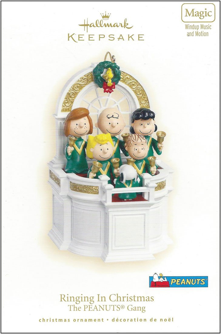 Peanuts ''Ringing in Christmas'' 2007 Hallmark Holiday Ornament QXI4309