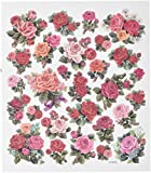 Tattoo King SK129MC-4911 Multicolored Sticker, Classic Roses