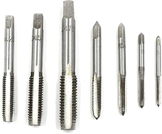 1pc HSS Machine M10 X 1.25mm Plug Tap and 1pc M10 X 1.25mm Die Threading Tool