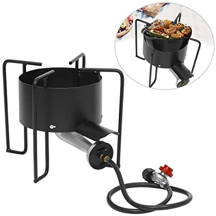 Outdoor Gas Stove Single Burner Patio Gas Cooker With Stand Patio Burner  With Hose