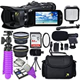 Canon VIXIA HF G40 Full HD Camcorder with Sandisk 64 GB SD Memory Card + 2.2x Telephoto Lens + 0.42x Wideangle Lens + Video Accessory Bundle