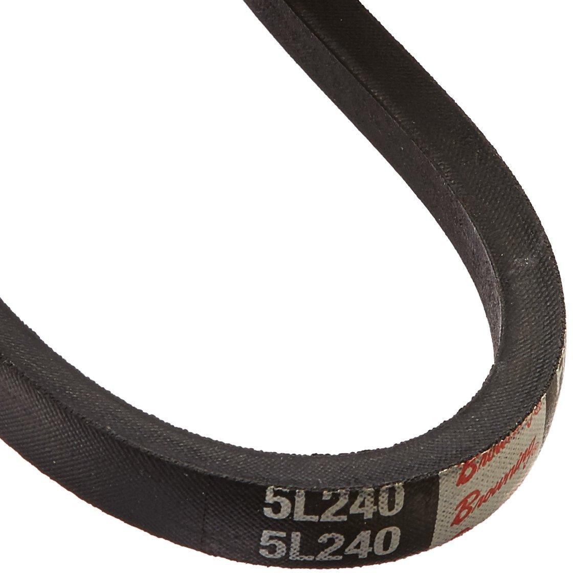 Browning Industrial Belts 5L240 FHP V-Belt Rubber 24 Length L Belt Section