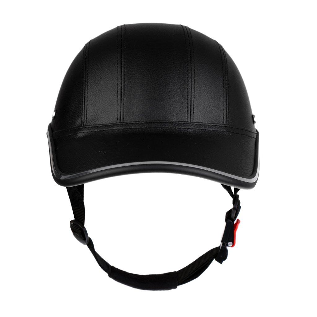 PU B Baosity Casquette de Baseball Casque de V/élo Anti-UV Coffre-Fort Visi/ère Chapeau en ABS