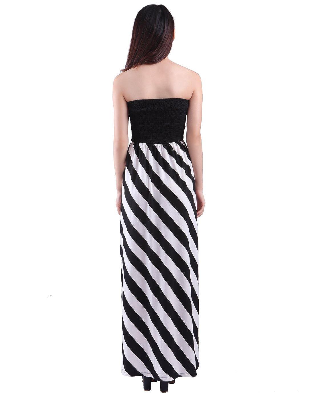 4d02c0322f8ce HDE Women's Maternity Dress Strapless Tube Top Pregnancy Sundress Long  Skirt at Amazon Women's Clothing store: