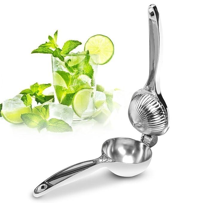 Compra Exprimidor de Limones Manual Exprimidor Acero Inoxidable para Cítricos Thinp Exprimidor de Cítricos, Solo una Mano, Ligero, Robusto, Adecuado para ...