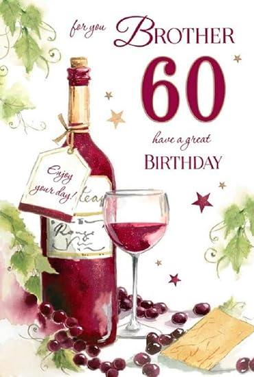 Amazon.com: 60th tarjeta de cumpleaños para un hermano por ...