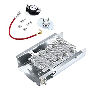 AMI PARTS 279838 & 279816 Dryer Heating Element with Thermal Cut-Off Kit Replacement Part Compatible with Kenmore Samsung Dryers