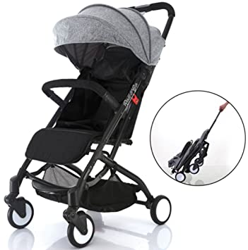 Airplane Lightweight Compact Travel Stroller One Hand Fold Umbrella Stroller Full Recline Up 170