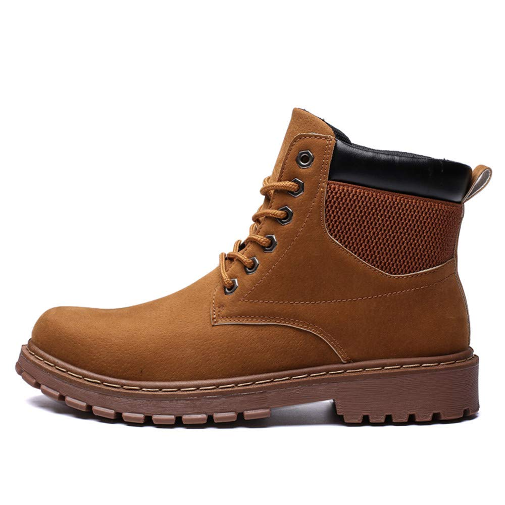Amazon.com: MUMUWU Mens Ankle Boots Casual High Top Rounded Top Comfortable Work Shoes Winter: Clothing